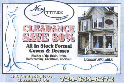 Save 30 on all gowns dresses and church suits in stock for A new attitude salon