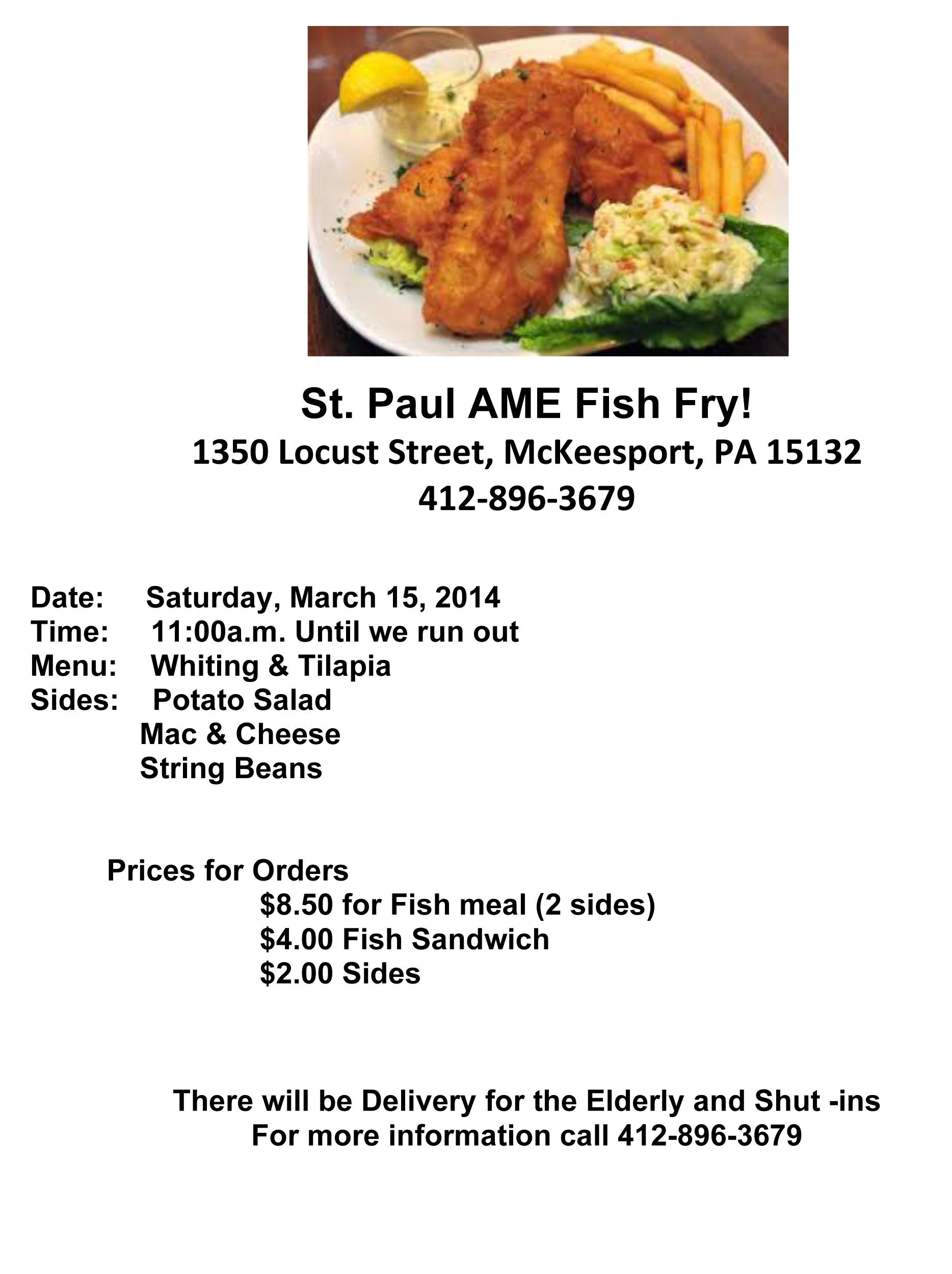 free fish fry flyer